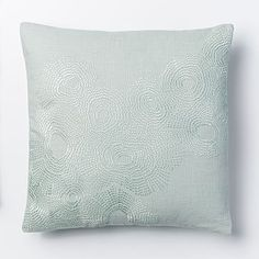 Accent Pillow   West Elm Embroidered Wavelet Pillow Cover - Pale Harbor #westelm, $42