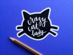 Hey, I found this really awesome Etsy listing at https://www.etsy.com/listing/249455939/crazy-cat-lady-sticker