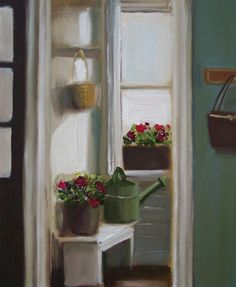 """The Green Watering Can"" - Janet Hill, artist"