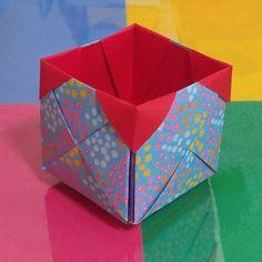 딱지상자접기.오월의장미.origami.종이접기.인형.상자접기0458 Gato Origami, Box Origami, Origami Easy, Origami Paper, Origami Instructions, Origami Tutorial, Diy And Crafts, Arts And Crafts, Paper Crafts