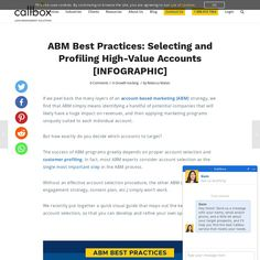Build a solid foundation for your ABM program with a robust account selection and profiling process that leverage these proven ABM best practices Lead Management, Best Practice, First Step, Infographics, Accounting, The Selection, Leadership, Foundation