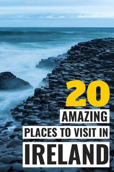 The 20 Best Places To Visit In Ireland. The Green Island Has So Many Tourist Attractions And Landmarks, It's Hard To Fit A Decent Ireland Itinerary In Two Weeks. In any case, This Massive Ireland Travel Guide Will Give You Tons Of Inspiration To Guide You Ireland Travel Guide, Europe Travel Guide, Travel Guides, Cool Places To Visit, Places To Travel, Travel Destinations, Holiday Destinations, Backpacking Europe, New Travel