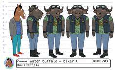 Bojack Horseman - Character design sheet by Adam Parton