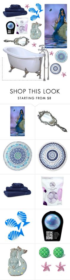 """""""Bath Fit For A 🐟"""" by pegasusblack on Polyvore featuring interior, interiors, interior design, home, home decor, interior decorating, John Robshaw, The Beach People, Ralph Lauren Home and Me! Bath"""