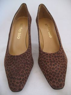 NEW Womens SACHA TOO SPAIN BROWN LEOPARD ANIMAL PRINT LEATHER HIGH HEELS  $ 55.98 ..... we sell more WOMENS SHOES, SLIPPERS and SANDALS at http://www.TropicalFeel.com