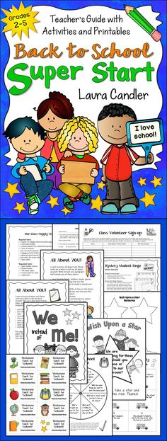 Back to School Super Start makes it easy to get your class on track for success! Includes a teacher's guide with activity directions and printables that will save you time and help you start building a community of learners! $ #LauraCandler