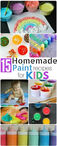 15 Homemade Paint Recipes for KIDS - Double the Batch