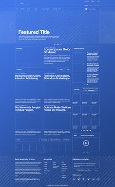 Blueprint themed wireframe | Designer: Derek Clark