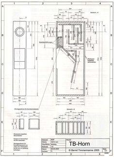 Чертеж конструкции акустической системы Экспоненциальная мачта