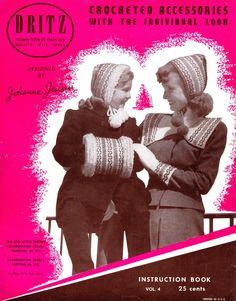Free Vintage Crochet Patterns 1940's Hats Bags Muffs Mittens Hoods