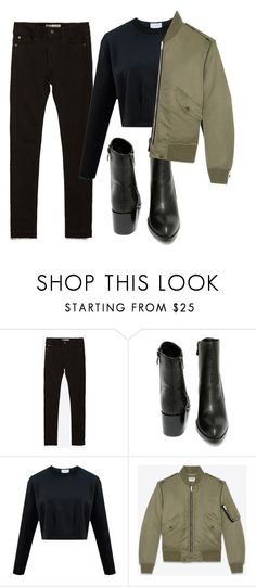 """""""boylish"""" by redapplecigarettes ❤ liked on Polyvore featuring Zara, Very Volatile and Yves Saint Laurent"""