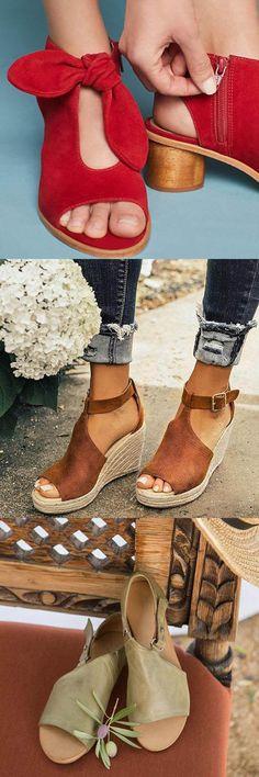 dfd48af5982 Women Chic Espadrille Wedges Sandals with Adjustable Buckle