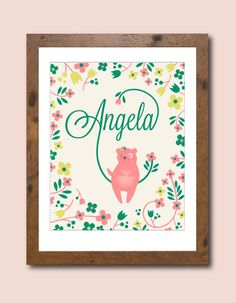 Personalized art from etsy