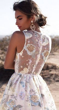 Floral Embroidery Little Dress