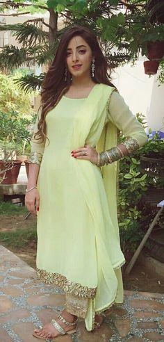 Post by Khan's Creation ( on salwar kameez Dress Indian Style, Indian Dresses, Indian Wear, Designer Punjabi Suits, Indian Designer Wear, Pakistani Outfits, Indian Outfits, Simple Dresses, Beautiful Dresses
