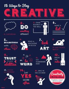 Quotes for Motivation and Inspiration QUOTATION - Image : As the quote says - Description 15 Ways to Stay Creative Creative Thinking, Design Thinking, How To Be Creative, Creative People, Creative Labs, Self Development, Personal Development, Leadership Development, Professional Development