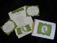 Elegant wedding invitations handmade by Stationerium  $3.50