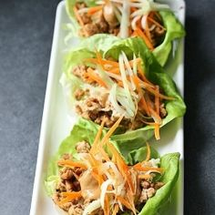 Lettuce Wraps with Hoisin-Peanut Sauce - healthy dish made with ground turkey