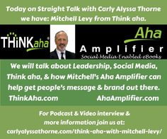 Mitchell Levy - Think Aha & The Aha Ampllifier - Social Media Enabled eBooks http://www.linkedlocalnetwork.com/mitchell-levy-think-aha-the-aha-ampllifier/ via @linkedlocalnet @happyabout #lln