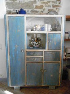 Credenza dispensa vintage anni 50 in legno | Progetti - legno ...