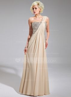 Evening Dresses - $130.49 - A-Line/Princess One-Shoulder Floor-Length Chiffon Sequined Evening Dress With Ruffle (017019740) http://jenjenhouse.com/A-Line-Princess-One-Shoulder-Floor-Length-Chiffon-Sequined-Evening-Dress-With-Ruffle-017019740-g19740 This would be great in Red!