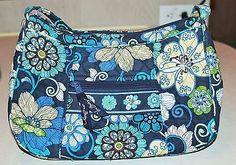 Vera Bradley Handbag Mod Floral Blue Shoulder Bag Purse