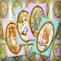 Easter digitals - Peter Rabbit Beatrix Potter by theHouseAcrosstheBay