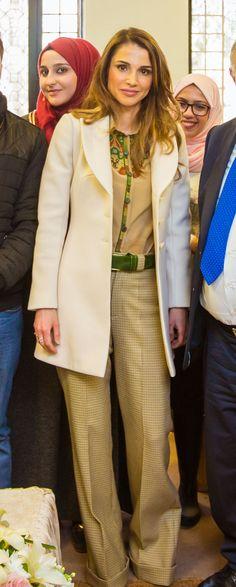 Queen Rania during a visit to the Hashemite University Zarqa, Jordan / February 24, 2016