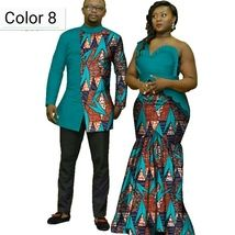 African couple Cotton clothing African ethnic wax printing Skirt and Men& Shirt image 4 Couples African Outfits, African Wear Dresses, Latest African Fashion Dresses, African Men Fashion, Couple Outfits, Couple Clothes, Modern African Clothing, Traditional African Clothing, Suits For Women