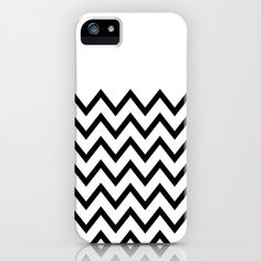 Black Chevron On White iPhone & iPod Case by Pencil Me In ™ - $35.00