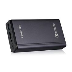 Qualcomm Certified Quick Charge 30 Fast and Portable Poweradd 10050mAh Power Bank Portable Charger with Dual USB Output for iPhone Samsung BLU HTC iPad and more -- Be sure to check out this awesome product.