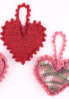 Crochet Heart Sachets by Red Heart Yarn