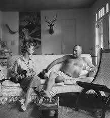 Jean Patchett and Ernest Hemingway, by Clifford Coffin