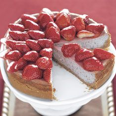 Strawberry-Strawberry Cheesecake Recipe: Bon Appétit #shavuot