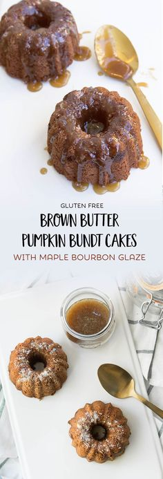 These gluten free pumpkin bread bundt cakes with brown butter and maple bourbon glaze are just about the tastiest little hostess gifts under the sun.