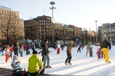 Eislaufen im Herzen Helsinkis