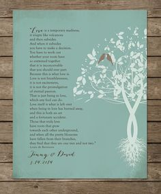 This beautiful Love quote print is personalized with the happy couples names and date. Printed on archival paper (with a thin white border)- this