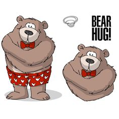 Art Impressions Valentine's Cling Rubber Stamp Set Bear Hug