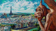 View from Notre Dame Impressionism, Contemporary Impressionism, Fine Art, Creative, Canvas, Painting, Art, Views