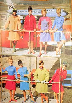 Braniff International Airlines Stewardess Photo - those crazy tricked-out Pucci-designed uniforms!
