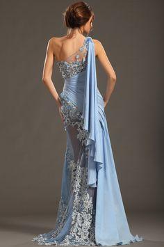 eDressit 2013 S/S Fashion Show Handmade Flowers Blue Evening Dress Prom Gown - Evening Dresses Blue Evening Dresses, Semi Formal Dresses, Evening Gowns, Prom Dresses, Dress Prom, Evening Party, Formal Wear, Formal Prom, Dance Dresses