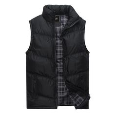 Jacket Sleeveless Vest Winter Fashion Casual Coats Male Cotton-Padded