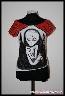 "EL NIÑO: T-shirt dipinta ispirata a ""Madonna"" di Munch"