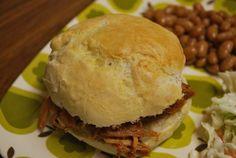 Homemade buns with pulled pork by fakeginger, via Flickr