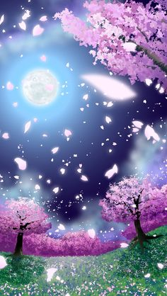 Wallpaper...By Artist Unknown... Cherry Blossom Wallpaper Iphone, Butterfly Wallpaper Iphone, Cute Wallpaper For Phone, Galaxy Wallpaper, Cool Wallpaper, Wallpaper Space, Screen Wallpaper, Wallpaper Backgrounds, Extinct Animals