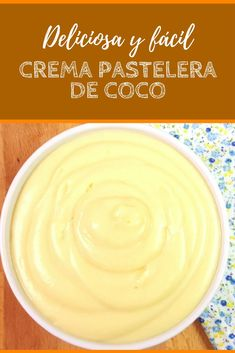 Crema pastelera de coco una receta muy fácil y deliciosa Cookie Desserts, Cookie Recipes, Cakes Plus, Buttercream Cupcakes, Cinnamon Recipes, Cheesecake Cake, Types Of Cakes, Catering Food, Xmas Food