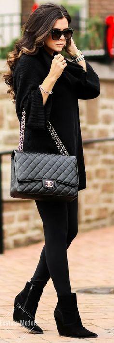 All Black Chic // Fashion Look by Emily Gemma
