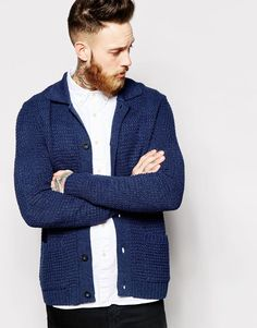 Image 1 ofASOS Worker Cardigan with Texture