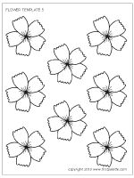 Twelve free printable flower sets that include coloring pages and full-color flowers to use for crafts and other flower-themed activities. The flower sets include five-petal flowers, lilies, sunflowers, roses and cherry blossoms. Paper Flower Patterns, Paper Flowers, Flower Lei, Rainbow Magic, Embroidery On Clothes, Printables, Printable Templates, Free Printable, Embroidery Patterns Free
