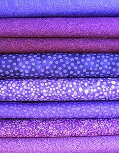Bright Purple Fabric Bundle